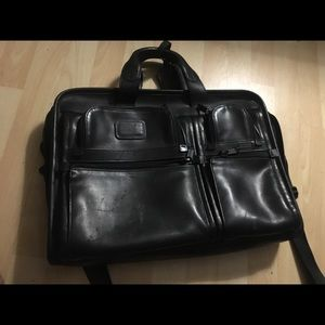 Tumi Leather Laptop Bag